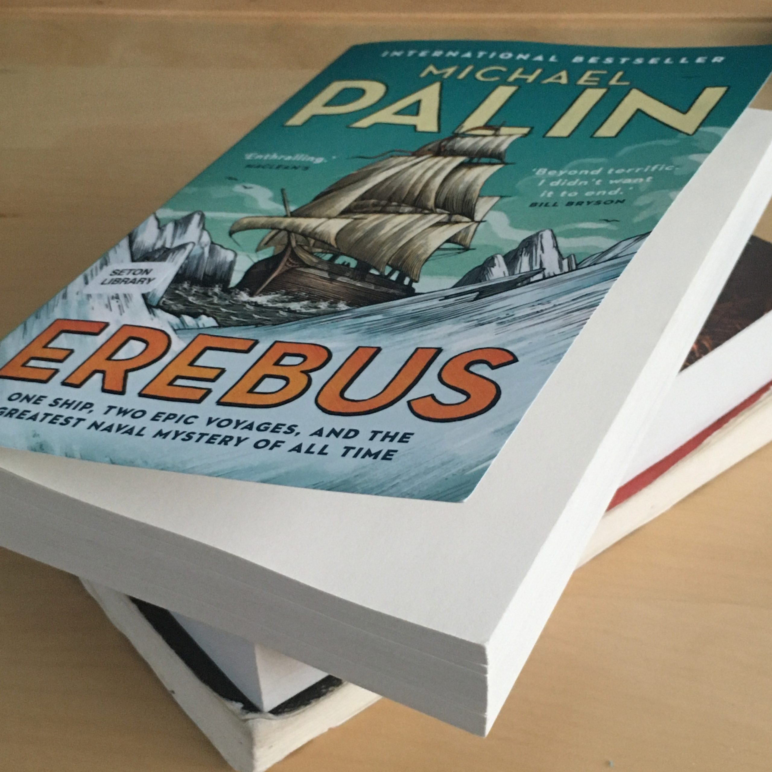 "No Adverbs in this book. Pictured is ""Erebus,"" a nonfiction book by Michael Palin."