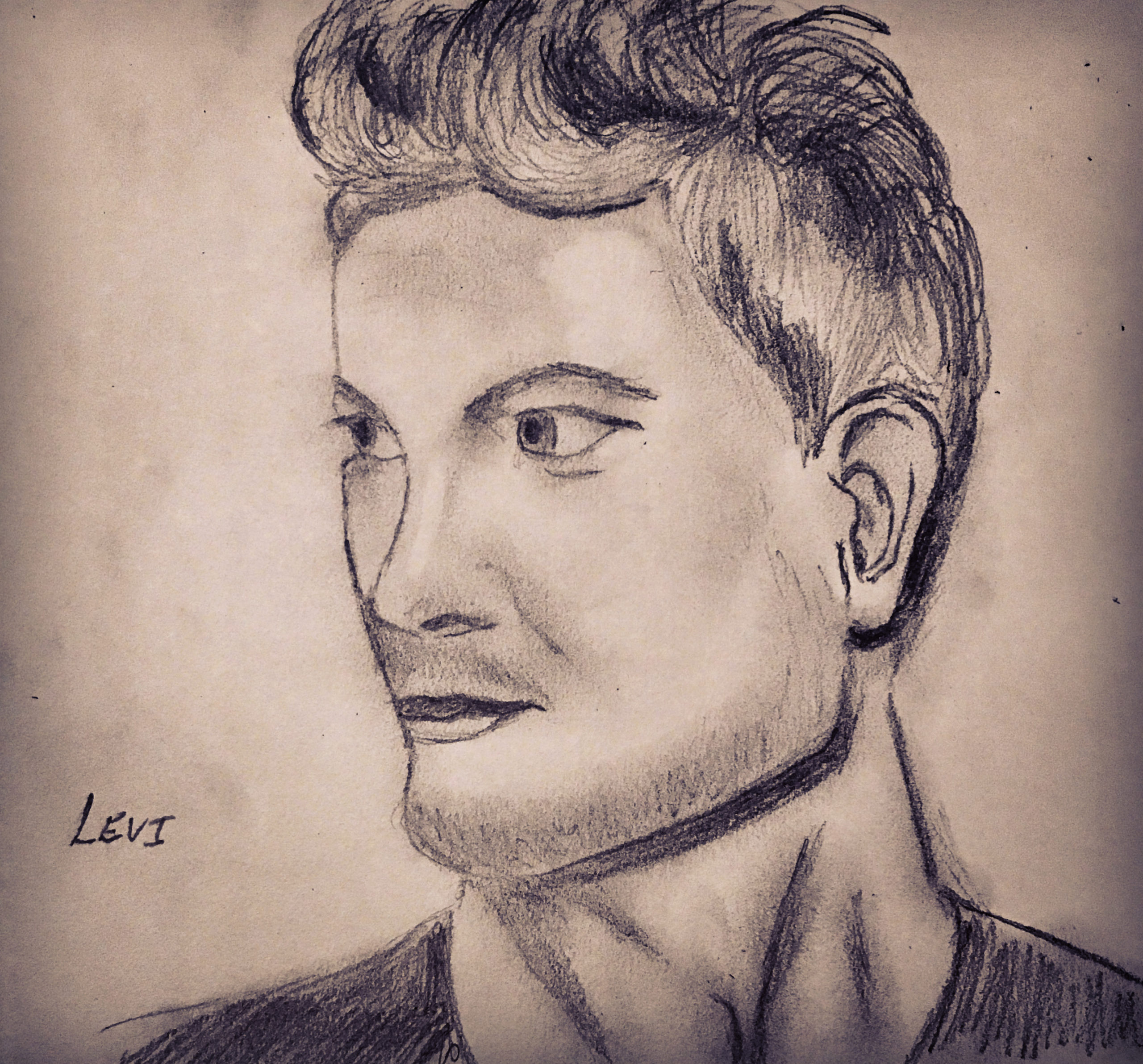 A creative endeavor: Sketch of Levi, a character in our When the Rain Falls Series