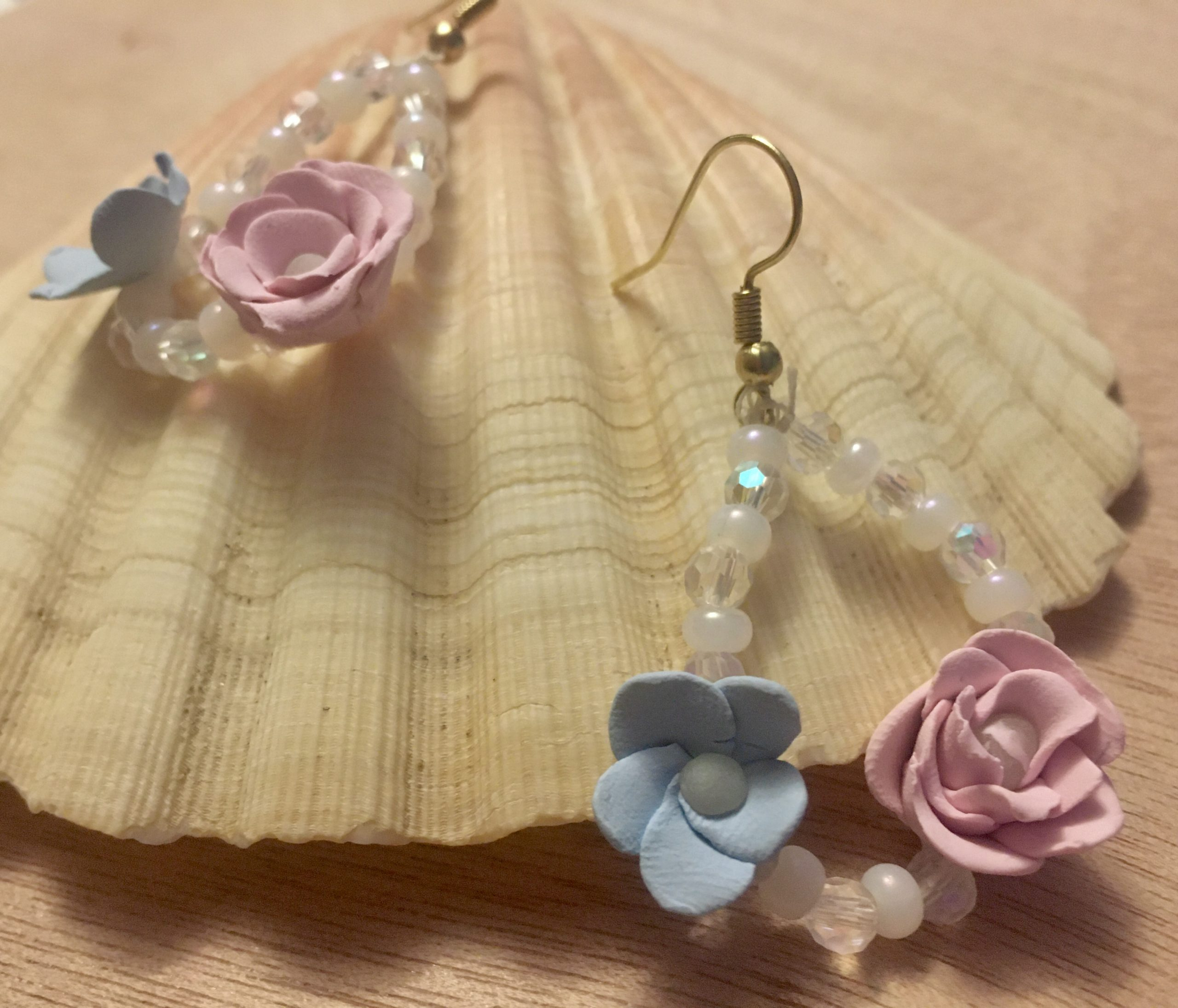 The journey of each unique creation brings it's own joy, much like these beautiful pastel flower earrings brought me.