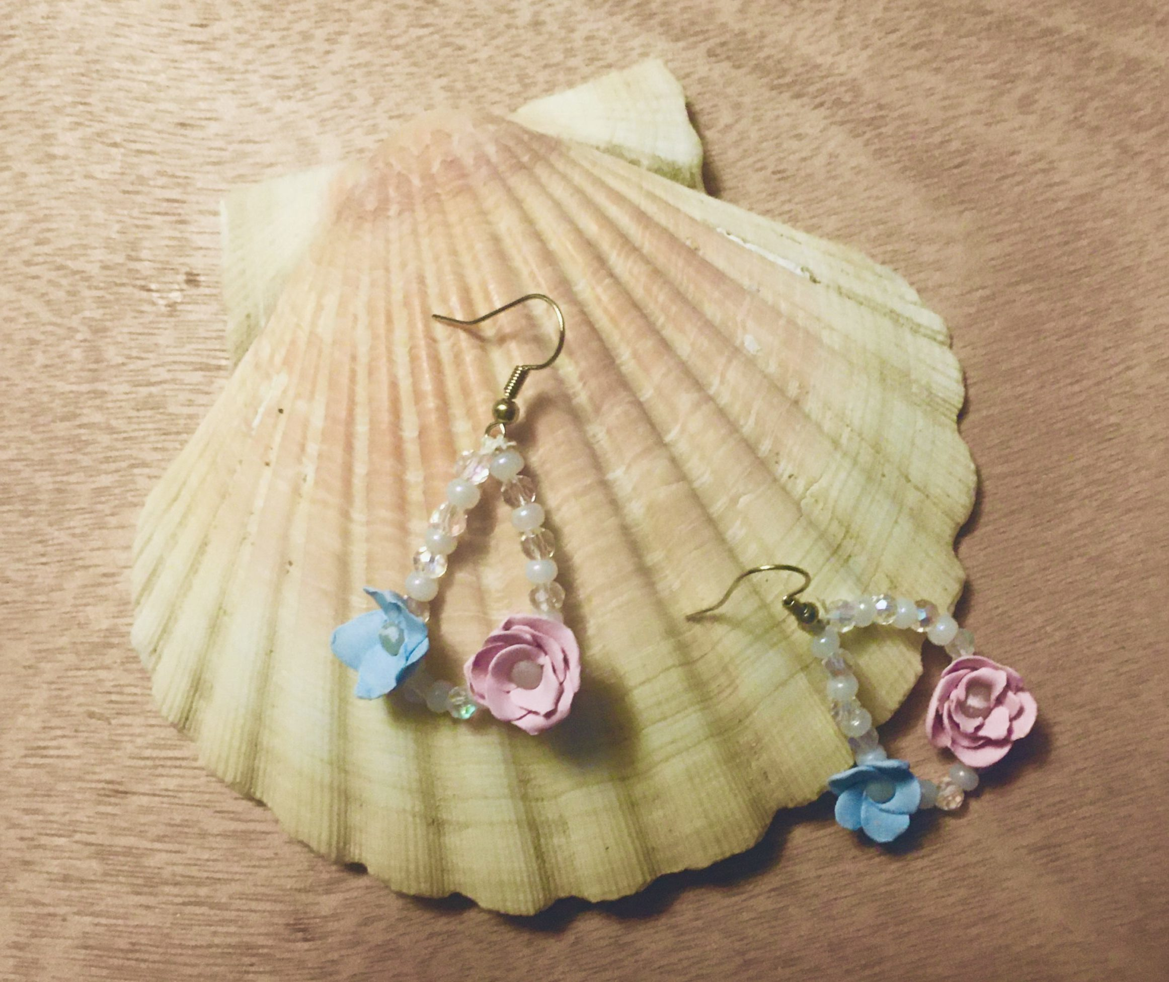 The journey of each unique creation brings its own joy, much like these beautiful pastel flower earrings brought me.