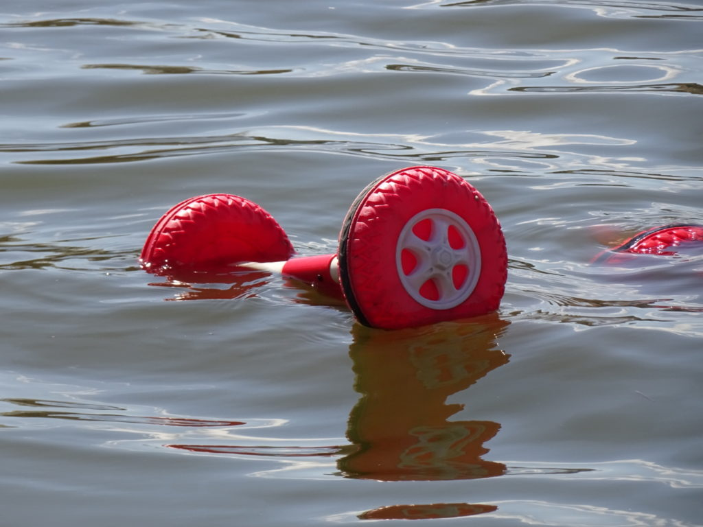 This little red wagon was sinking in our local storm pond. A little how I felt when I was looking at the price of Vellum, until I realized we had Scrivener, a great software tool for creating EPUB files.