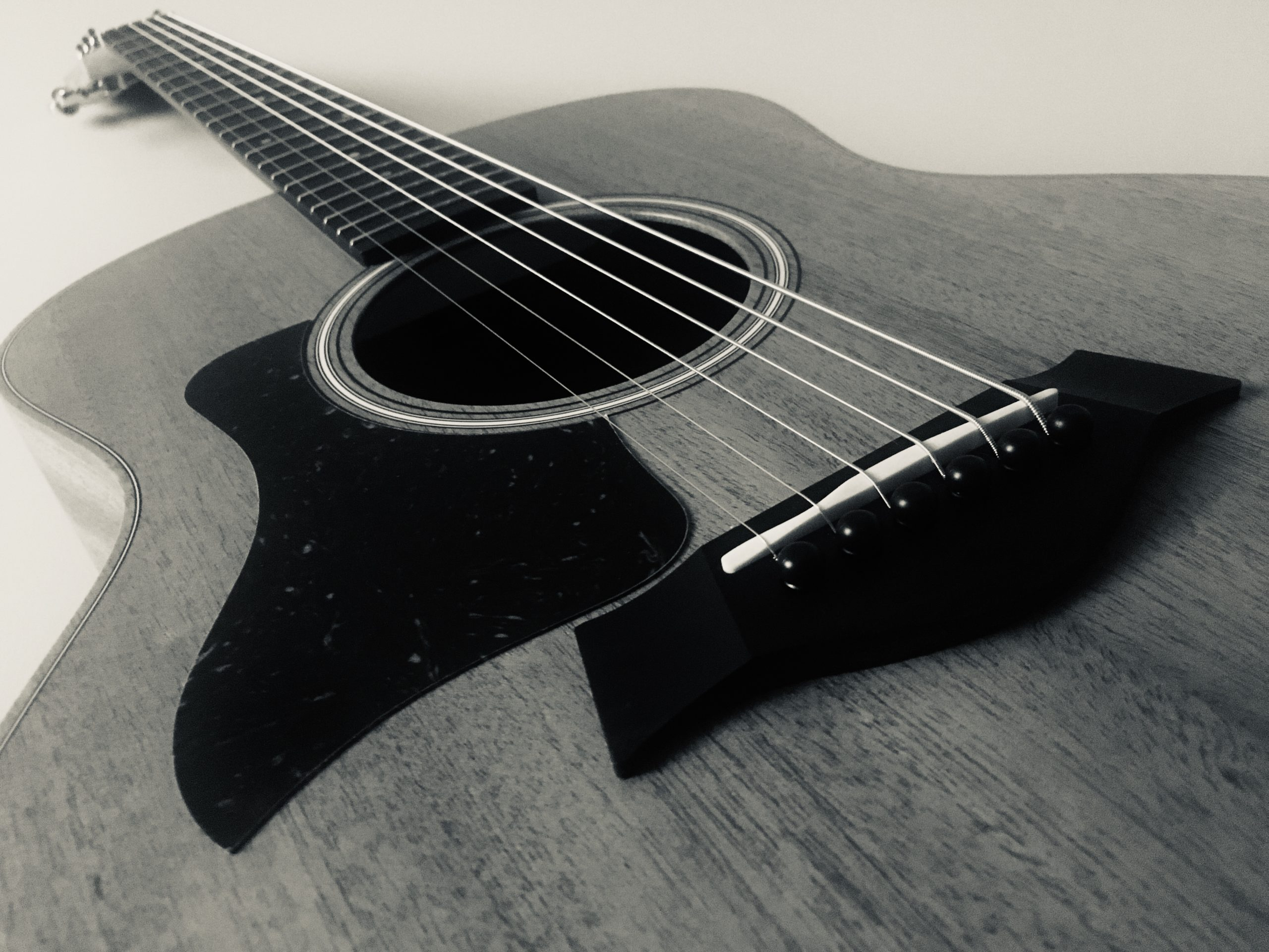 Sarah's been increasing her knowledge of all her creative pursuits. In the photo is Sarah's new guitar. A beautiful mahogany topped Taylor GS Mini.
