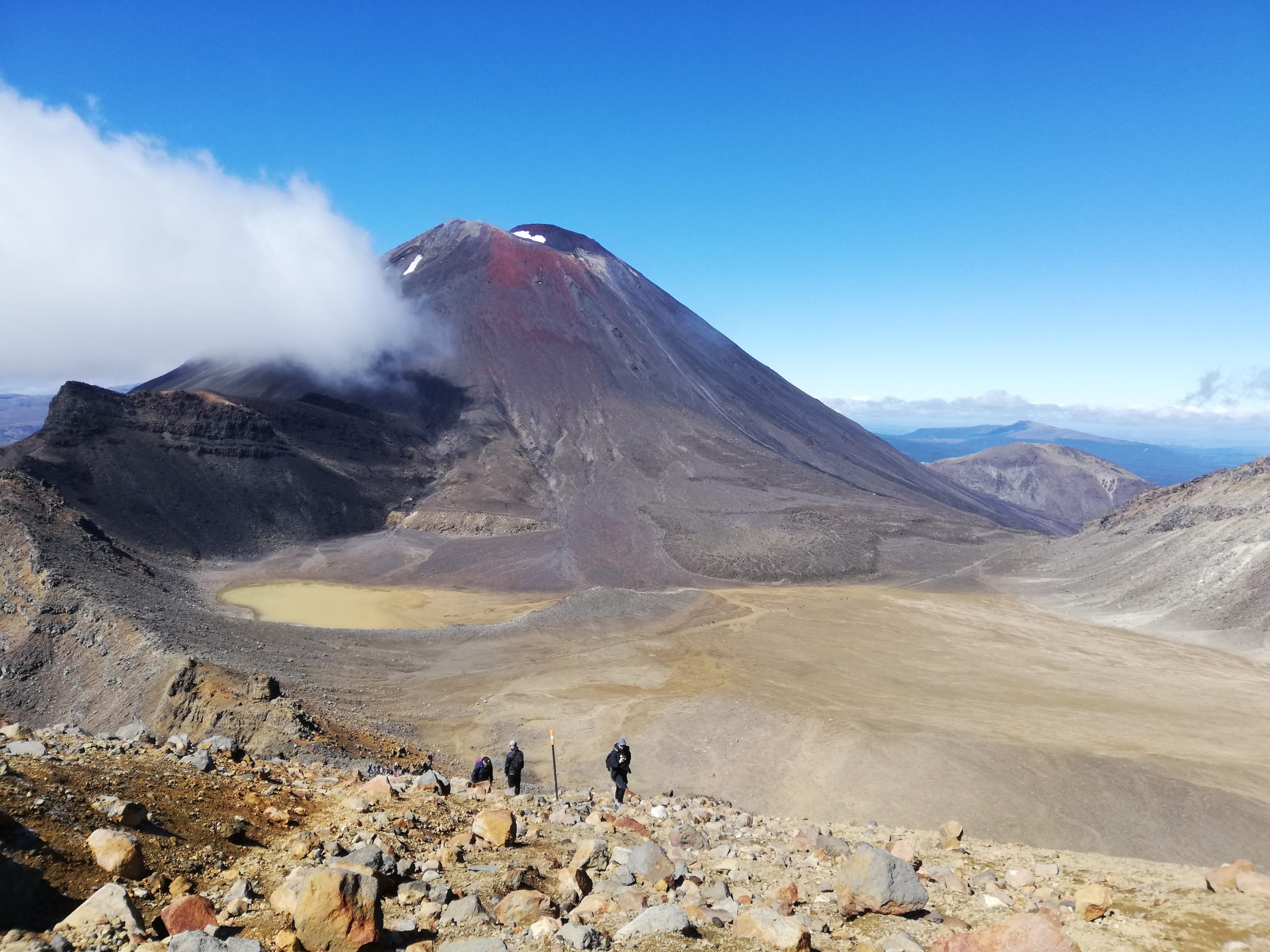 The beautiful scenery of Mt Ngauruhoe (aka Mt Doom)