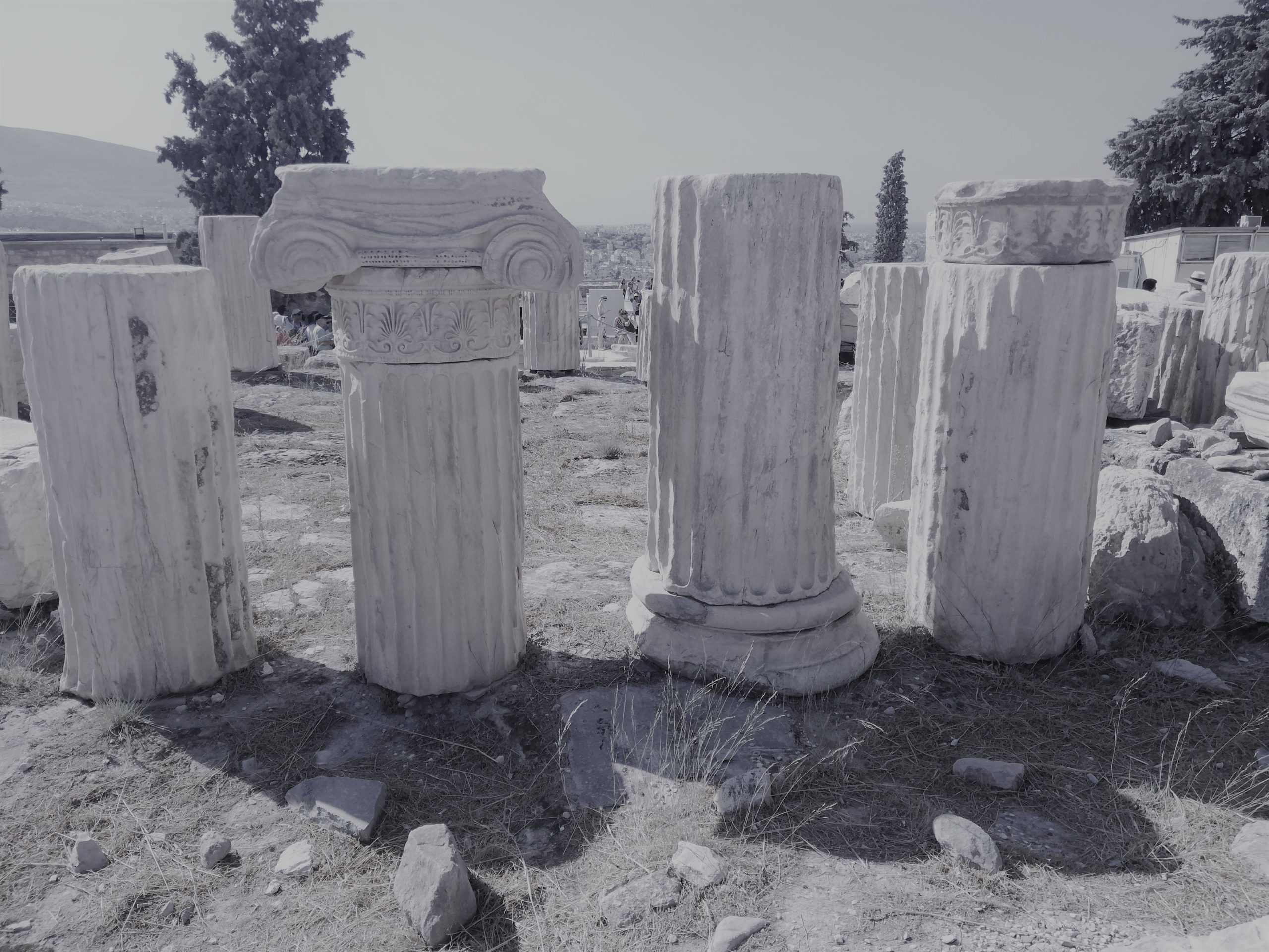 We've been feeling a bit nervous about attempting a historical novel set in Ancient Greece. We want to get things right, and rebuild these ancient ruins in our reader's minds, like the beautiful columns pictured.