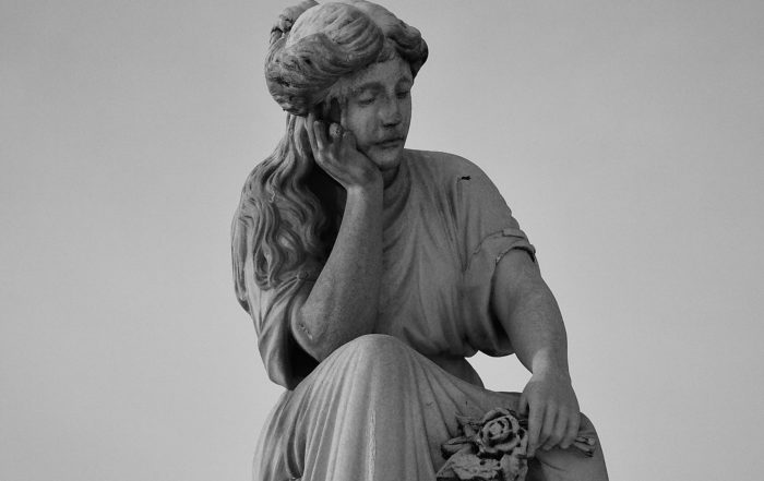 Sometimes life is hard like for the marble statue in this photo, mourning her loss, and we need to take a breath.