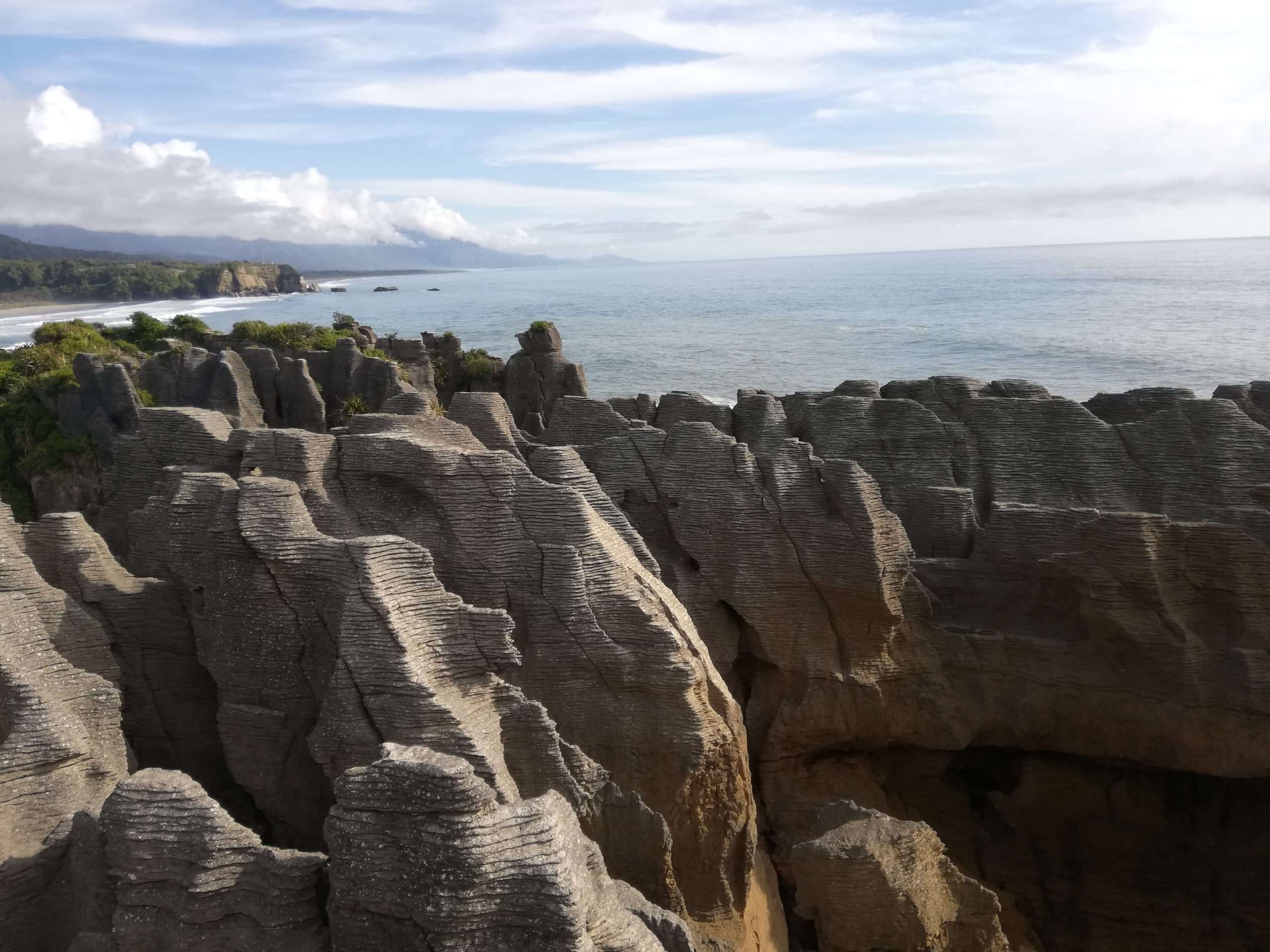 Pancake rocks is an interesting geological formation in NZ. Interesting enough to take anyone's mind off burnout.